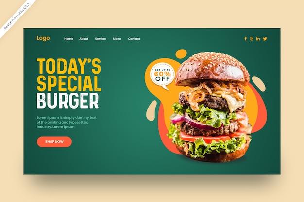 Delicious burger restaurant banner