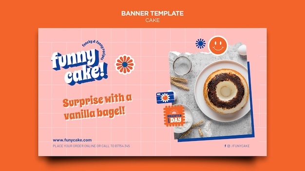 Delicious cake banner template