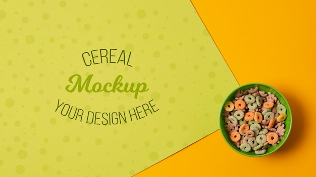 Delicious cereal concept mock-up