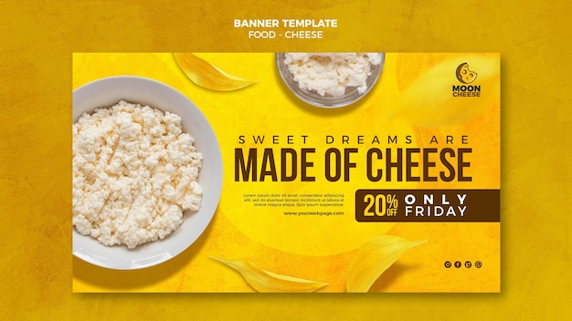 Delicious cheese horizontal banner