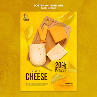Delicious cheese poster template