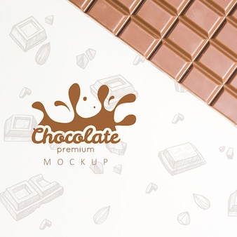 Delicious chocolate concept mock-up
