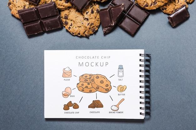 おいしいチョコレートクッキーのモックアップ