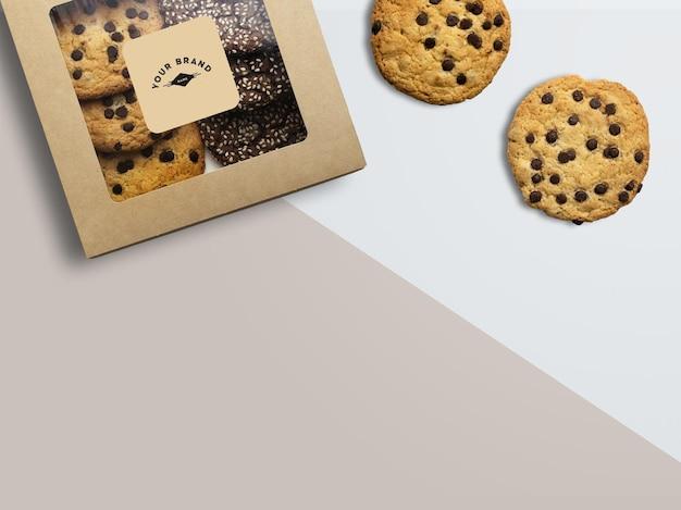 맛있는 초콜릿 쿠키 모형
