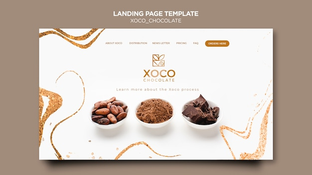 Delicious chocolate landing page
