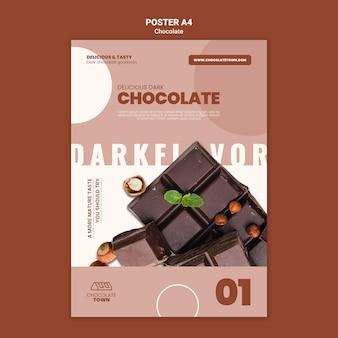 맛있는 초콜릿 포스터 템플릿