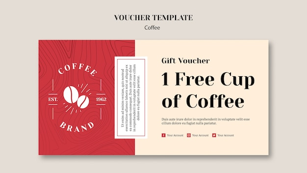Delicious coffee voucher template