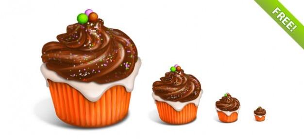 Delicious cupcake icons