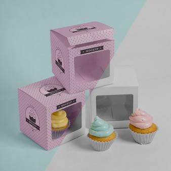 おいしいカップケーキのモックアップ