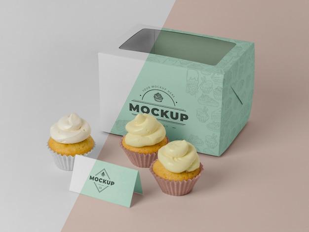 Delizioso mockup di cupcake