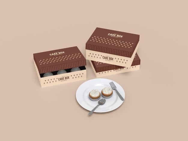 Вкусный макет упаковки кекса