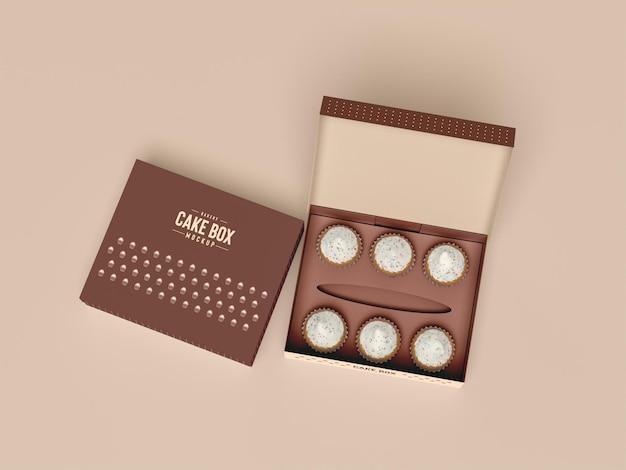 Вкусный макет упаковки кекса Premium Psd