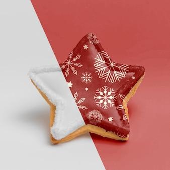 おいしい装飾されたクリスマスクッキー