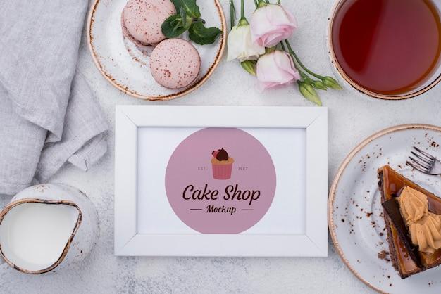 Вкусный десерт концептуальный макет