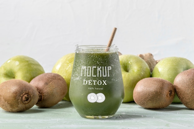 Delicious detox juice concept mock-up
