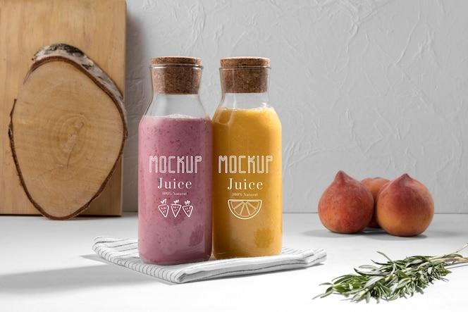 美味的排毒汁概念模拟