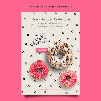 Delicious donuts print template