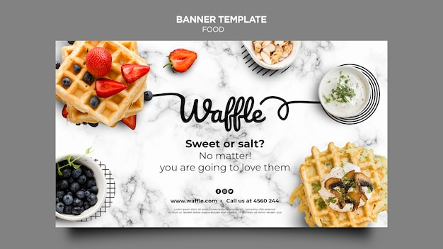 Delicious food banner template