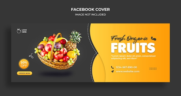 Delicious food facebook timeline cover and web banner template