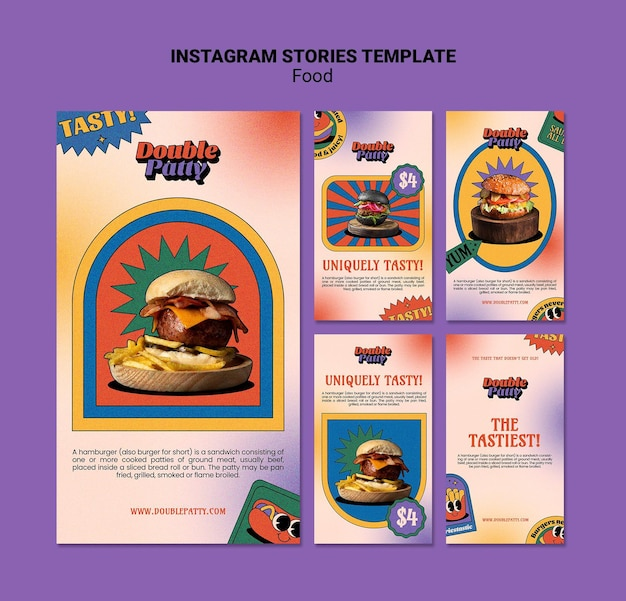 Delicious food instagram stories template