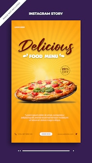 Delicious food menu instagram and facebook post story template