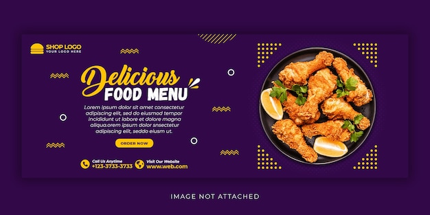 Delicious food menu social media post template