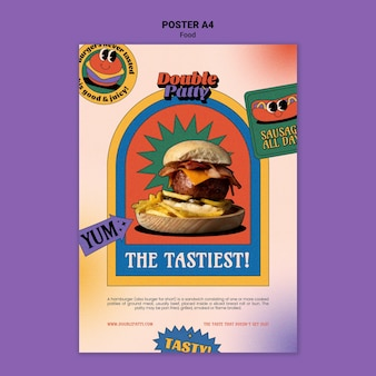 Delicious food  poster template
