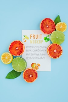 Delicious fruit concept mock-up