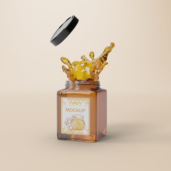 Delicious honey product mock-up