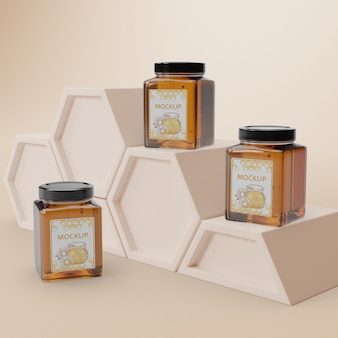 Delicious honey product on table