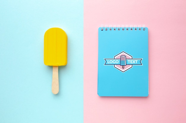 Delicious ice cream concept mock-up