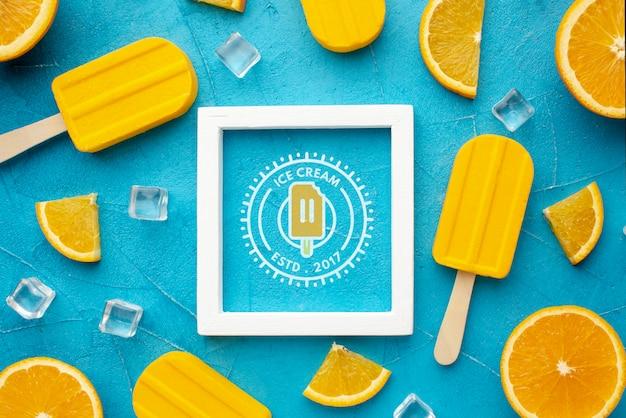 Mock-up delizioso concetto di gelato