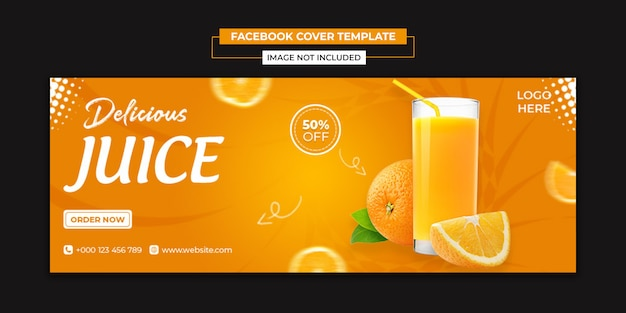 Delicious juice social media and facebook cover template