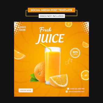 Delicious juice social media and instagram post template