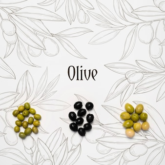 Delicious olives mock up