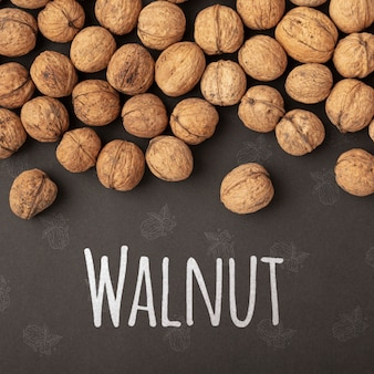 Delicious organic walnut mock-up