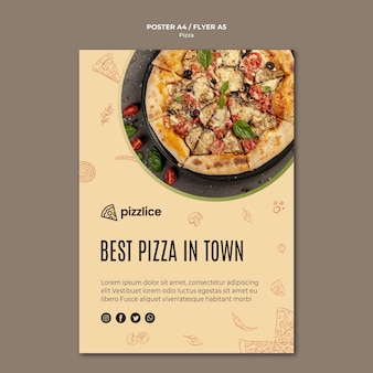 Delicious pizza poster style