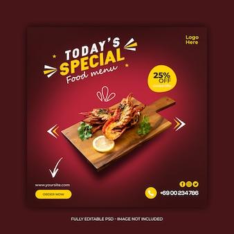 Delicious special restaurant  social media banner