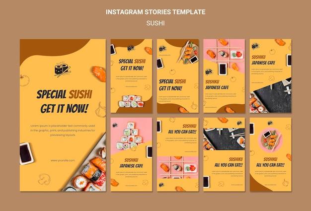 Delicious sushi instagram stories