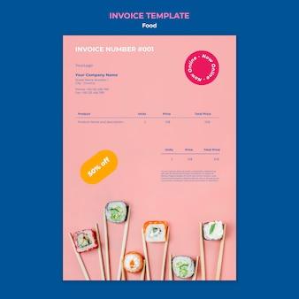 Delicious sushi invoice template