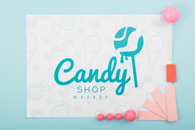 Delicious sweets concept mock-up