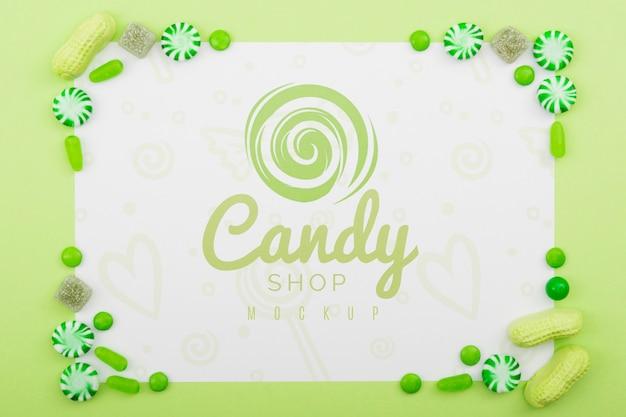 Mock-up di concetto di dolci deliziosi