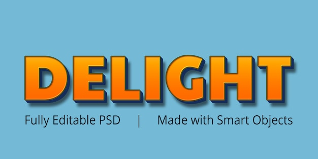 Delight text style
