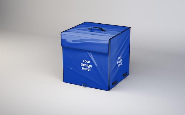 Дизайн макета сумки для доставки в 3d-рендеринге