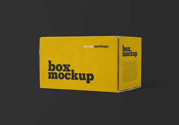 Delivery box mockup
