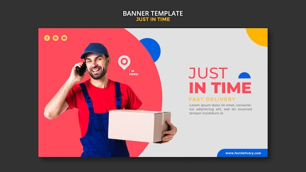 Delivery company template banner