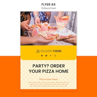 Delivery food flyer template