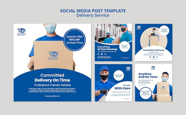 Сообщение службы доставки в социальных сетях