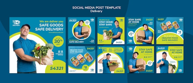 Delivery service social media post