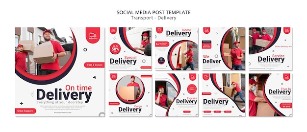 Delivery service social media post Free Psd
